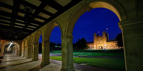 Brookings Quadrangle in the evening