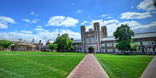 the Quadrangle in the summer at Washington University in St. Louis