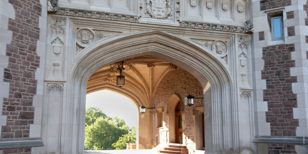 Brookings Hall archway on the Danforth campus